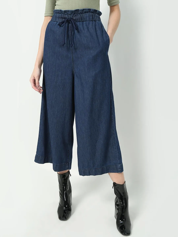 Paperbag Waist Cropped Jeans