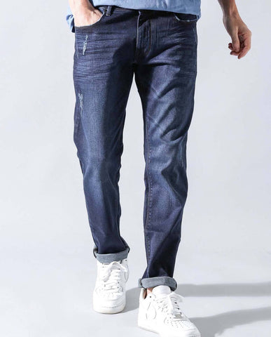 ANTONY- TAPERED STRETCH DENIM- BLUE