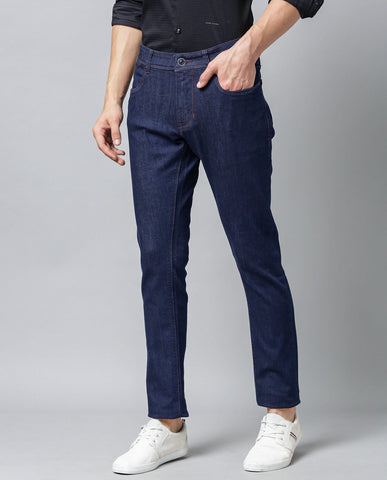 DRATT-STRETCH DENIM-NAVY