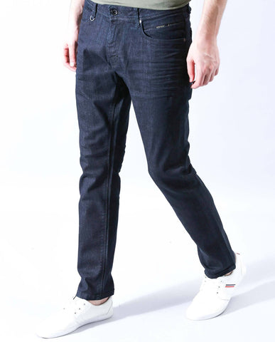 DARK-TAPERED DENIM-NAVY