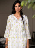 MIRABILIS BLOCK-PRINTED COTTON KURTA