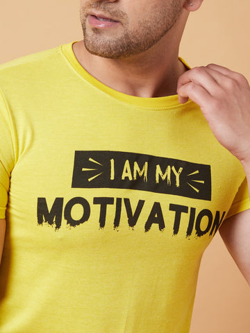 Motivation Yellow T-Shirt