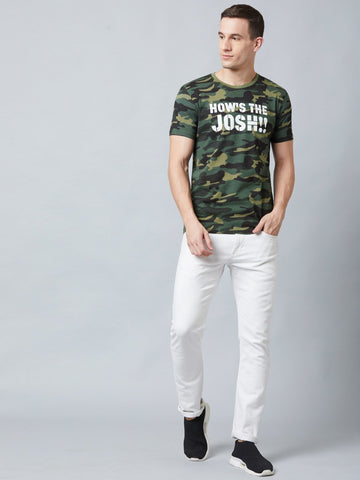 How's The Josh Camo Print Green T-Shirt