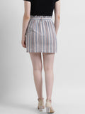 Women's Multi-Colored Striped Pencil Skirt