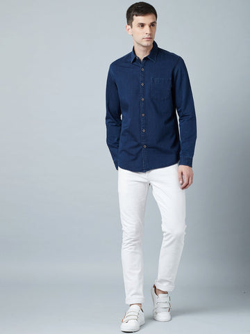 Pure Cotton Blue Denim Shirt