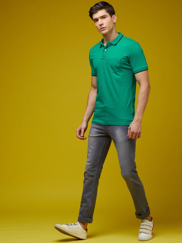 Mid Green Pocket Polo T-Shirt