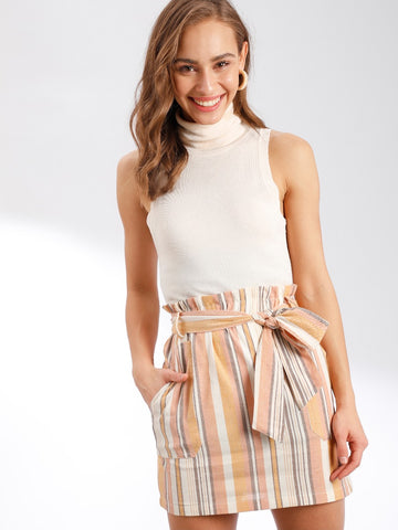 Women's Multi-Colored Striped Skirt