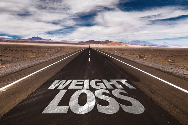 Weight Loss Written on Road