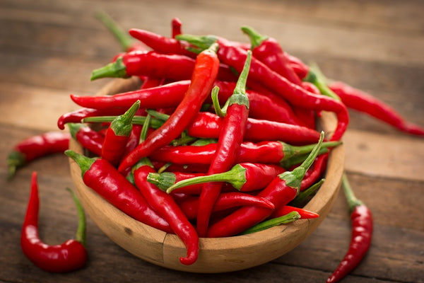 Cayenne Peppers in Bowl