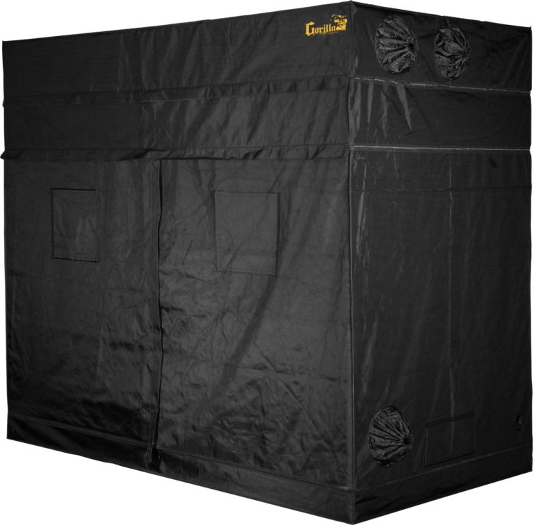 Closed side of a Gorilla grow tent