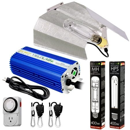 Yield Lab 400W HPS+MH Wing Reflector Grow Light Kit for indoor grow rooms and grow tents.