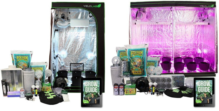 HID and LED grow tent kits.