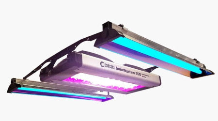 California Light Works SolarSystem 550 with UVB Kit LED Grow Light for indoor grow rooms and grow tents.