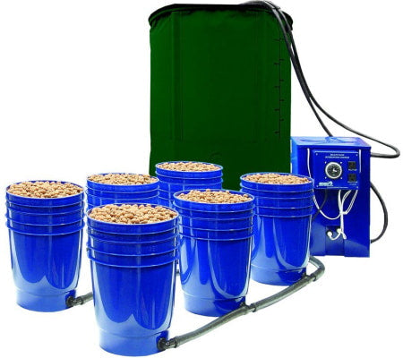 Greentree Hydroponics Multi Flow 6 Site Ebb and Flow Hydroponic System for indoor grow tents and grow rooms.