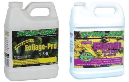 Dyna-Gro nutrients for hydroponics.