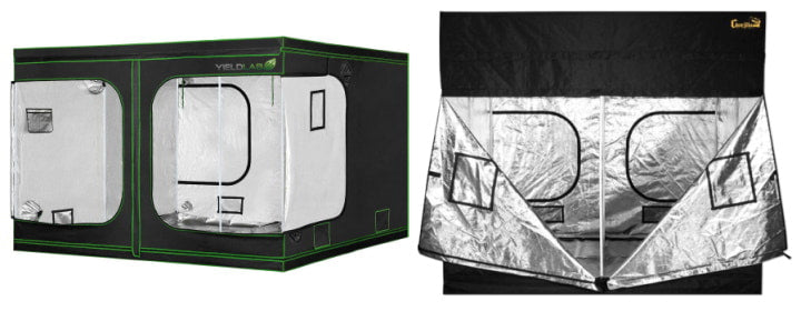 Extra large Yield Lab Grow Tent and Gorilla Grow Tent.