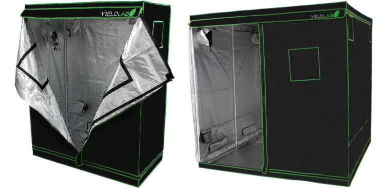 Medium and large grow tents for indoor gardening.