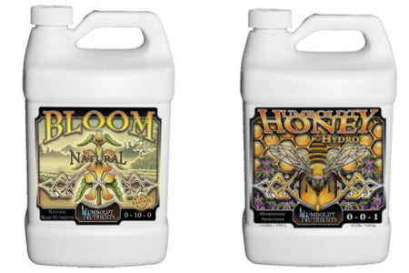 Humboldt Nutrients: Bloom Natural and Honey Hydro.