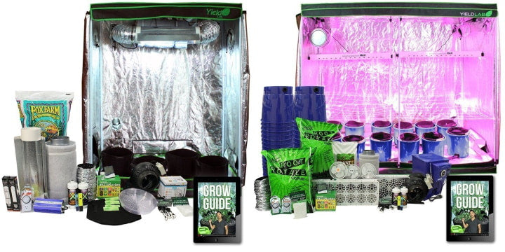 Small and large grow tent kits.