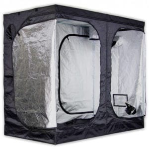 Profile view of a grow tent
