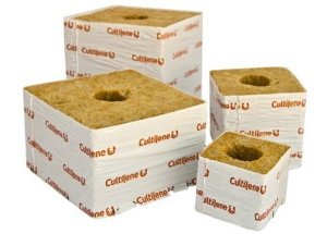 Rockwool is a growing medium used in indoor garden and hydroponics setups such as ebb and flow systems.