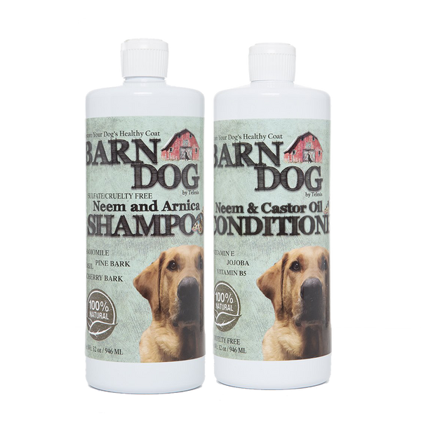 Equiderma neem shampoo and conditioner for barn dogs