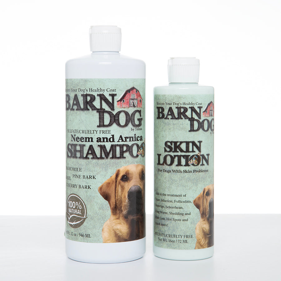 Save 35%: Buy a Barn Dog Shampoo and Lotion Healing Kit, get another Lotion for FREE!