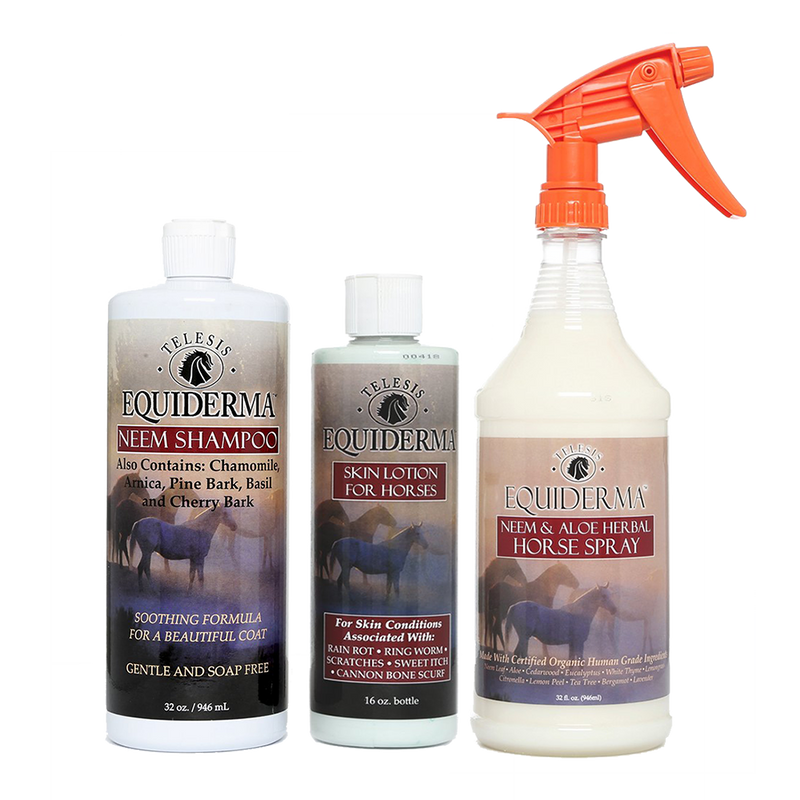 Neem Shampoo, Skin Lotion & Horse Spray Sweet Itch Combo Kit
