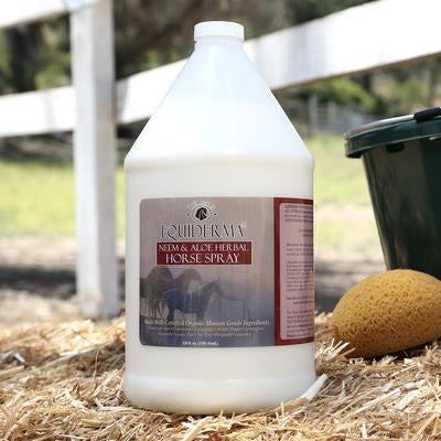 gallon of equiderma neem and aloe natural horse spray