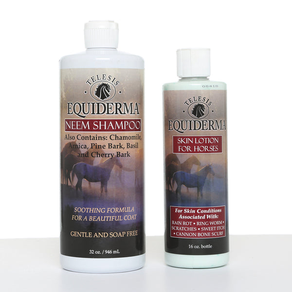 Equiderma:  Neem Shampoo & Skin Lotion Power Combo - Equiderma | Natural Horse Care | Pet Care Products  - Equiderma