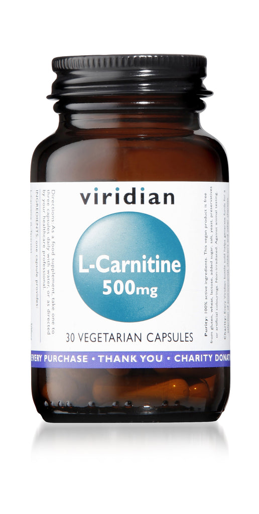 Viridian L-Carnitine, 500mg, 30 VCapsules
