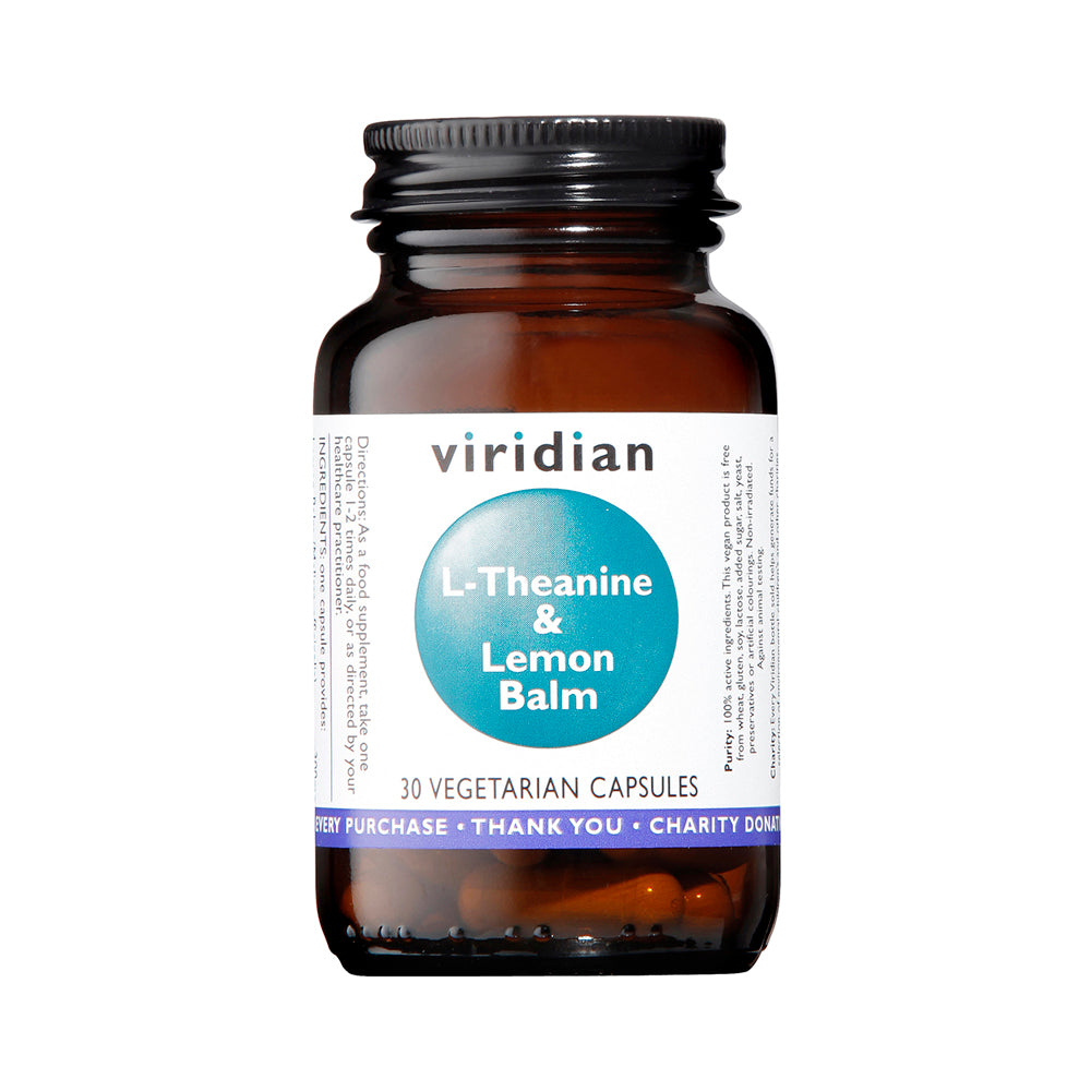 Viridian L-Theanine & Lemon Balm, 30 VCapsules
