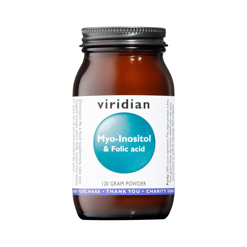 Viridian Myo-Inositol and Folic Acid, 120gr