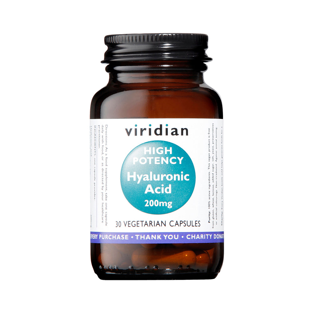 Viridian Hyaluronic Acid High Potency, 200mg, 30 VCapsules