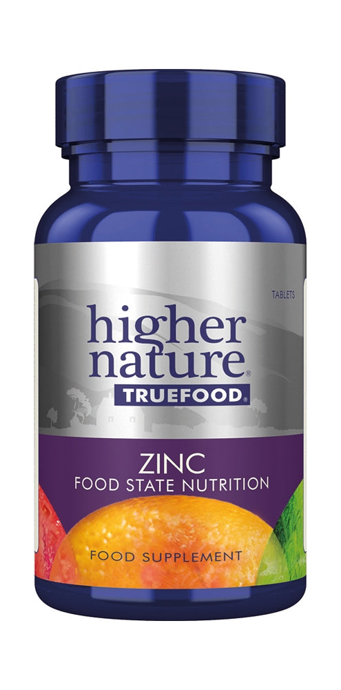 Higher Nature True Food Zinc, Vanilla, 90Tabs
