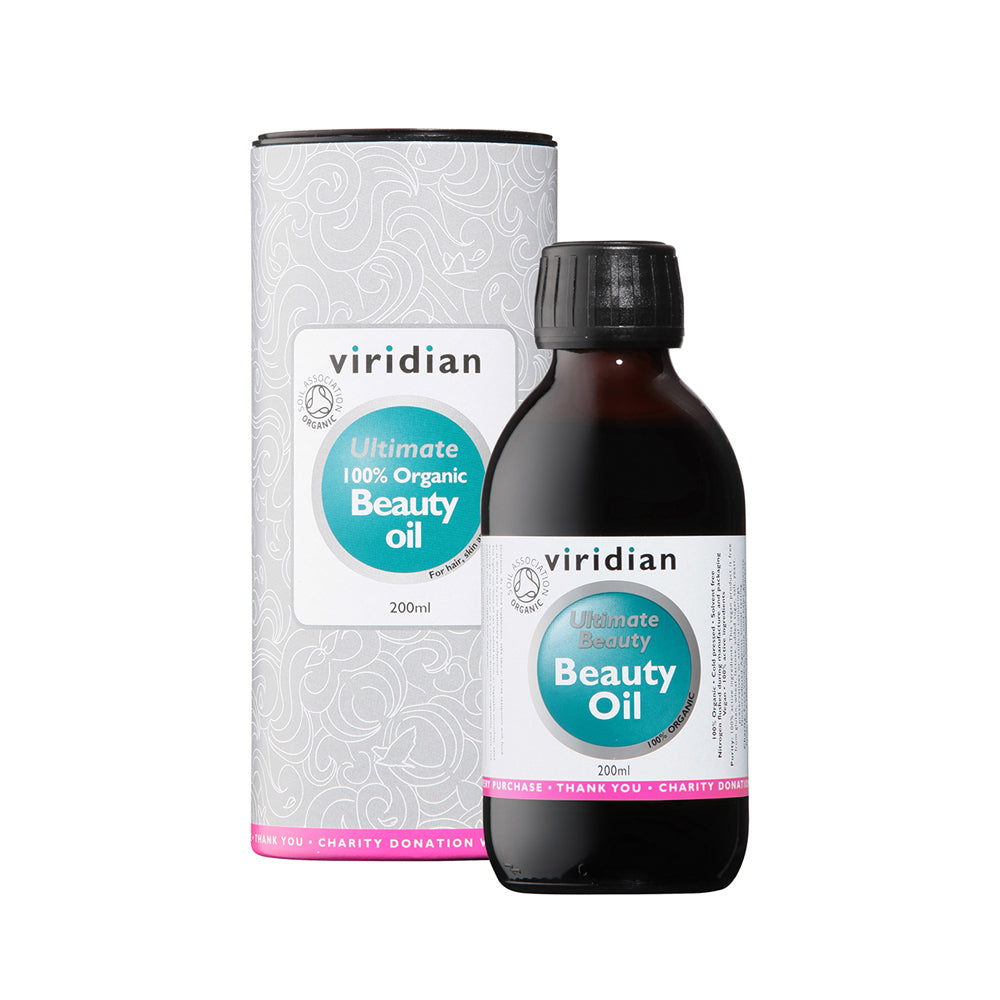 Viridian 100% Organic Ultimate Beauty Oil, 200ml