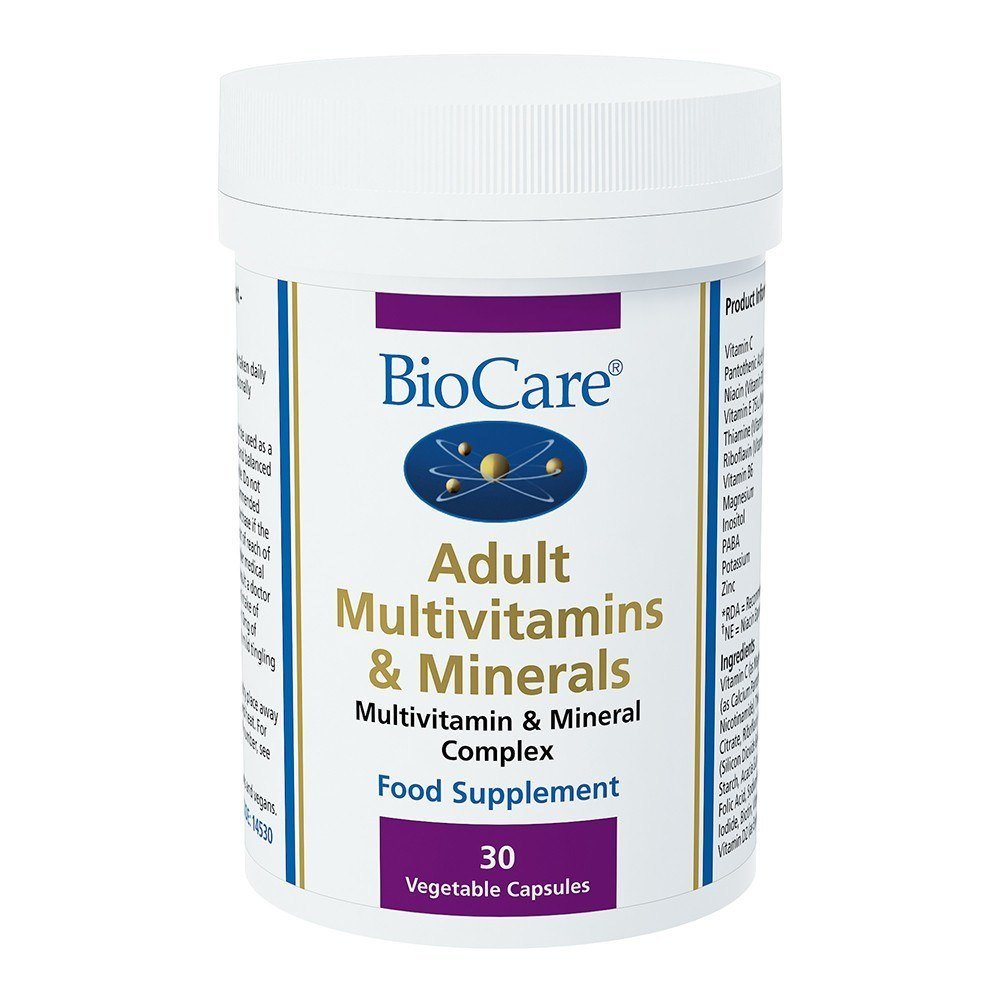 BioCare Adult Multivitamins and Minerals 30 Capsules - Lifestyle Labs
