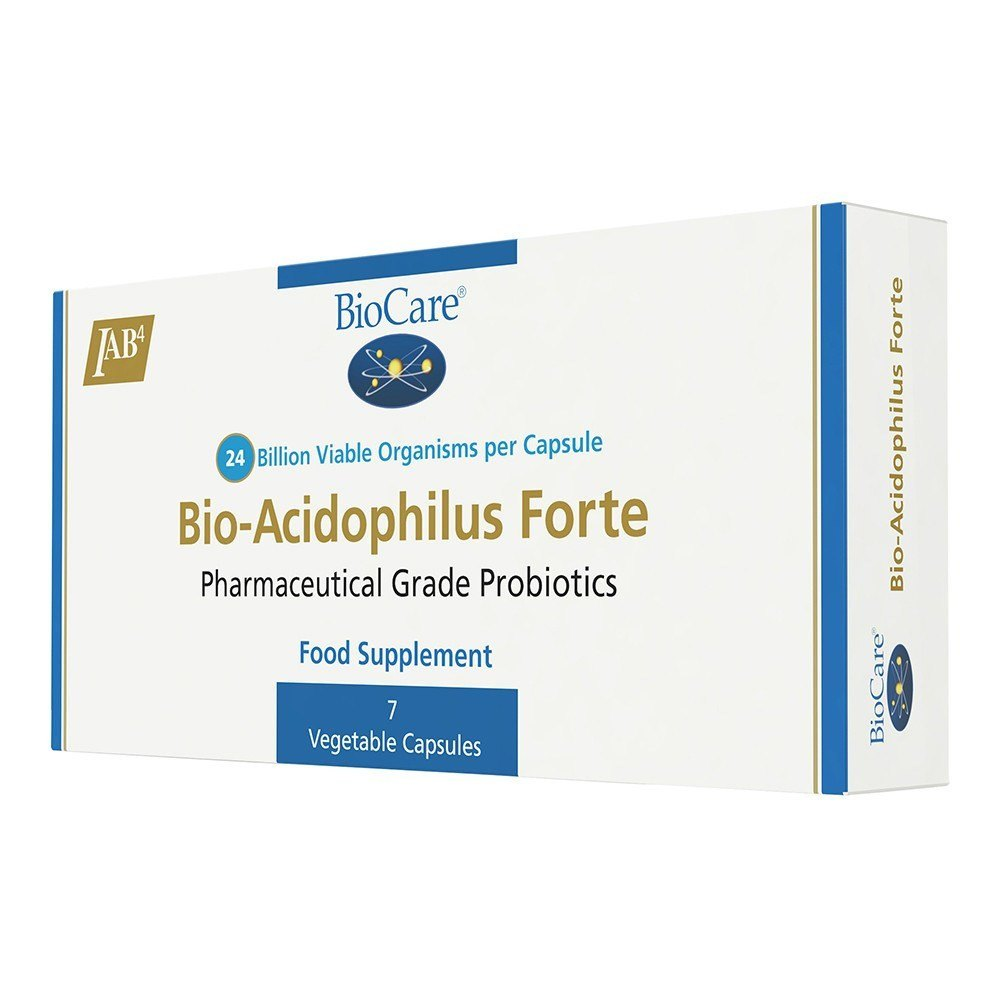 BioCare BioAcidophilus Forte Probiotic 24 Billion 7 Capsules - Lifestyle Labs