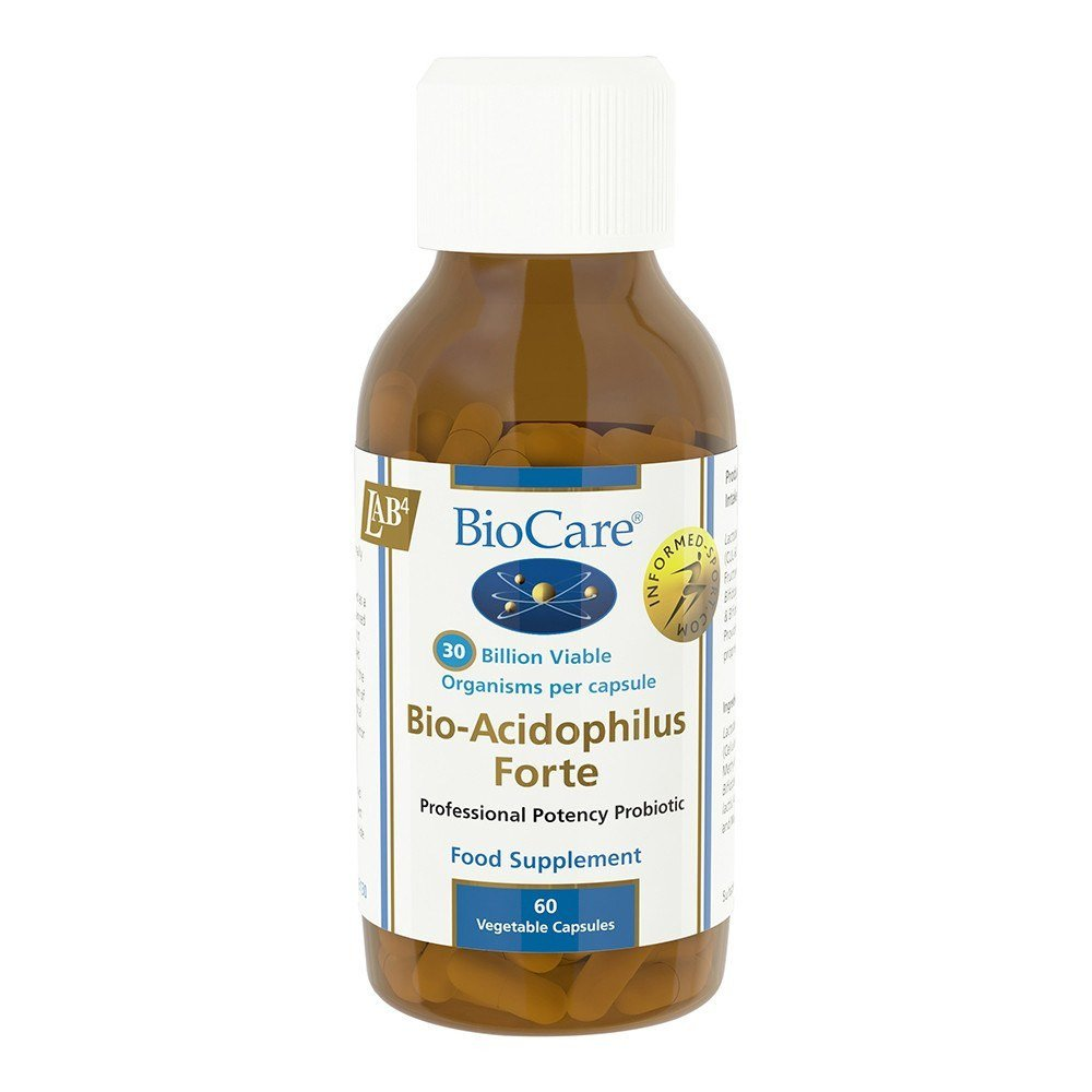 BioCare BioAcidophilus Forte Probiotic 30 Billion 60 Capsules - Lifestyle Labs