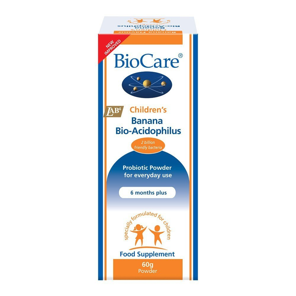 BioCare Children's BioAcidophilus Probiotic 2 Billion 60 g Powder - Lifestyle Labs