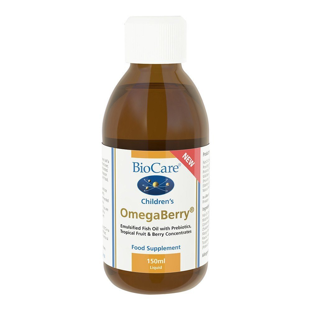 BioCare Children's OmegaBerry 250 mg EPA and 187 mg DHA 150 ml Liquid - Lifestyle Labs