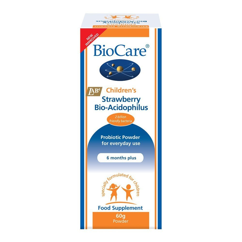 BioCare Children's Strawberry 2 Billion 60 g Powder - Lifestyle Labs
