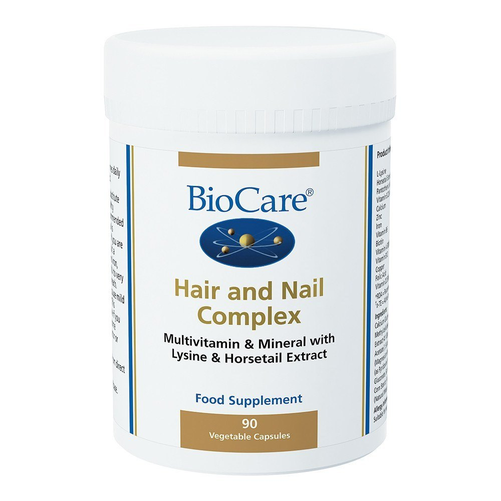 BioCare Hair and Nail Complex 90 Capsules - Lifestyle Labs