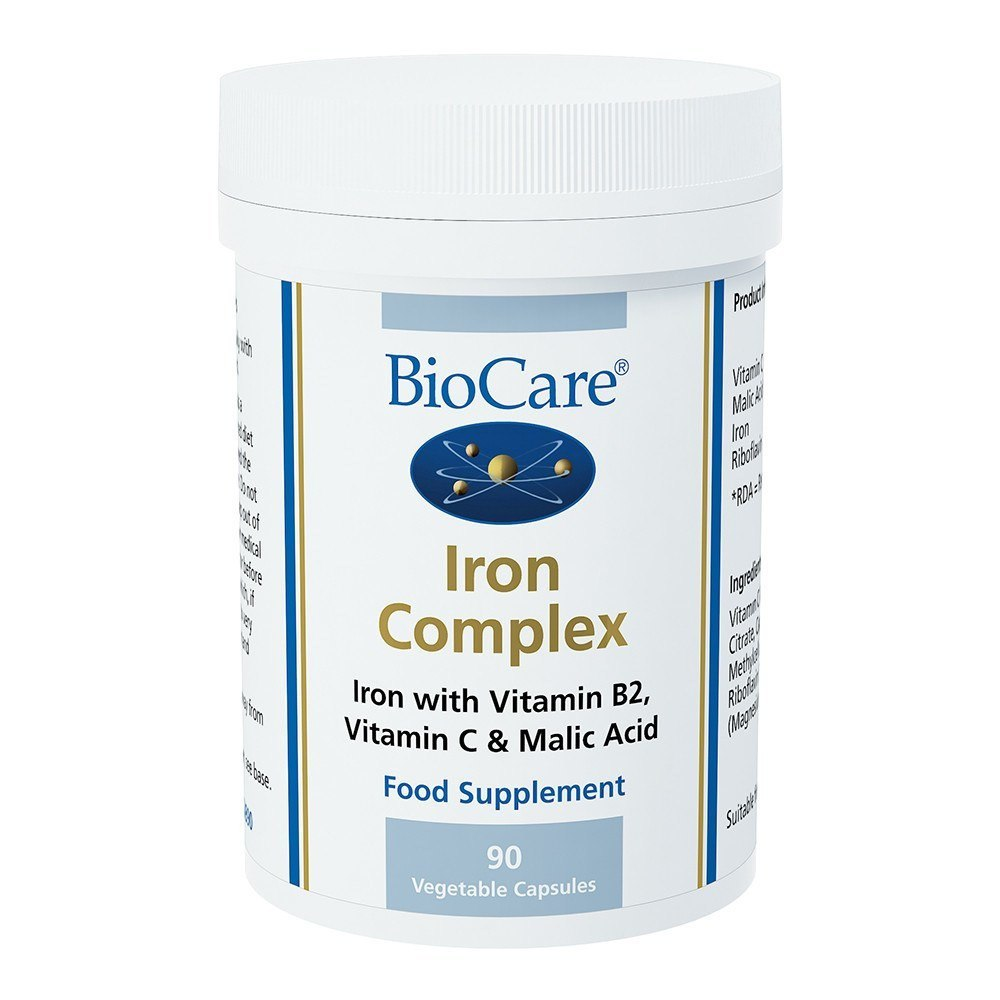 BioCare Iron Complex 14 mg 90 Capsules - Lifestyle Labs