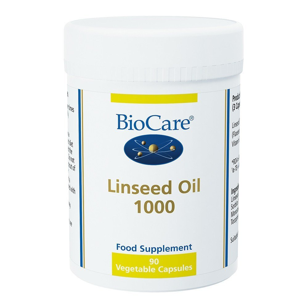 BioCare Linseed Oil 1050 mg 90 Capsules - Lifestyle Labs