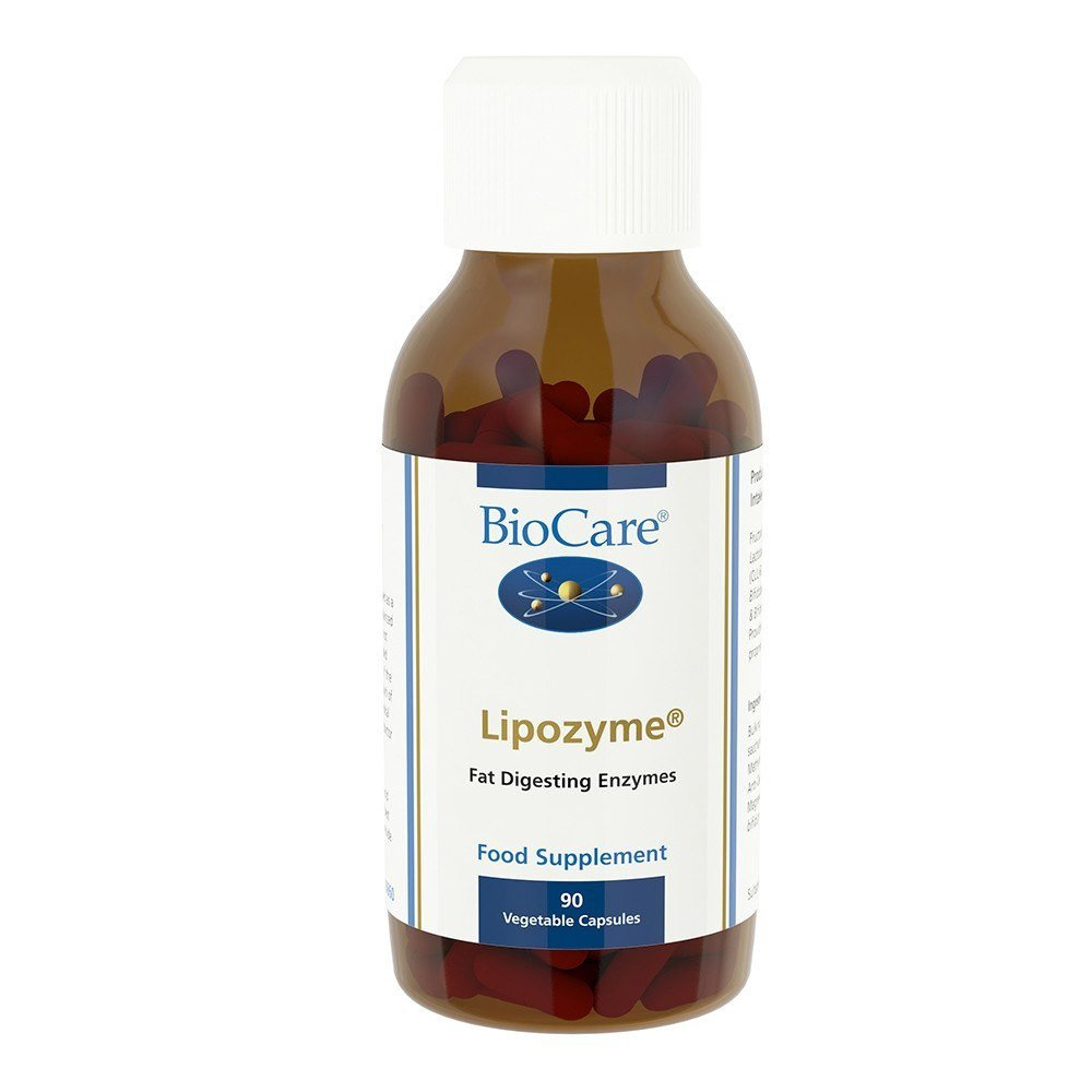 BioCare Lipozyme Lipase Enzyme Complex 40 mg 90 Capsules - Lifestyle Labs