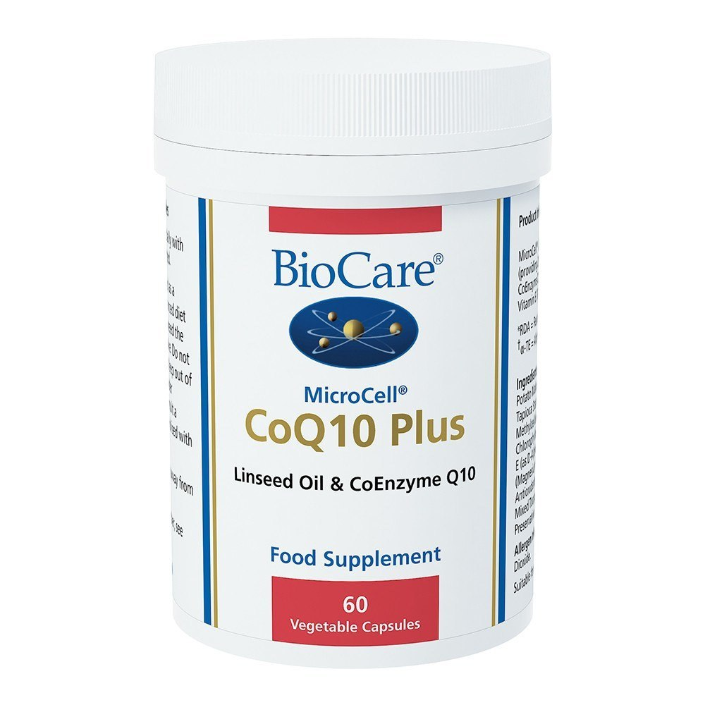 BioCare MicroCell Co Enzyme Q10 100 mg Plus Linseed 60 Capsules - Lifestyle Labs