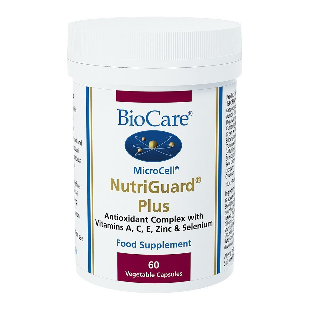 BioCare MicroCell® NutriGuard® Plus Antioxidant Complex 60 Capsules - Lifestyle Labs