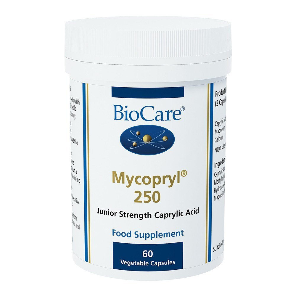 BioCare Mycopryl® 250 Caprylic Acid 500 mg 60 Capsules - Lifestyle Labs