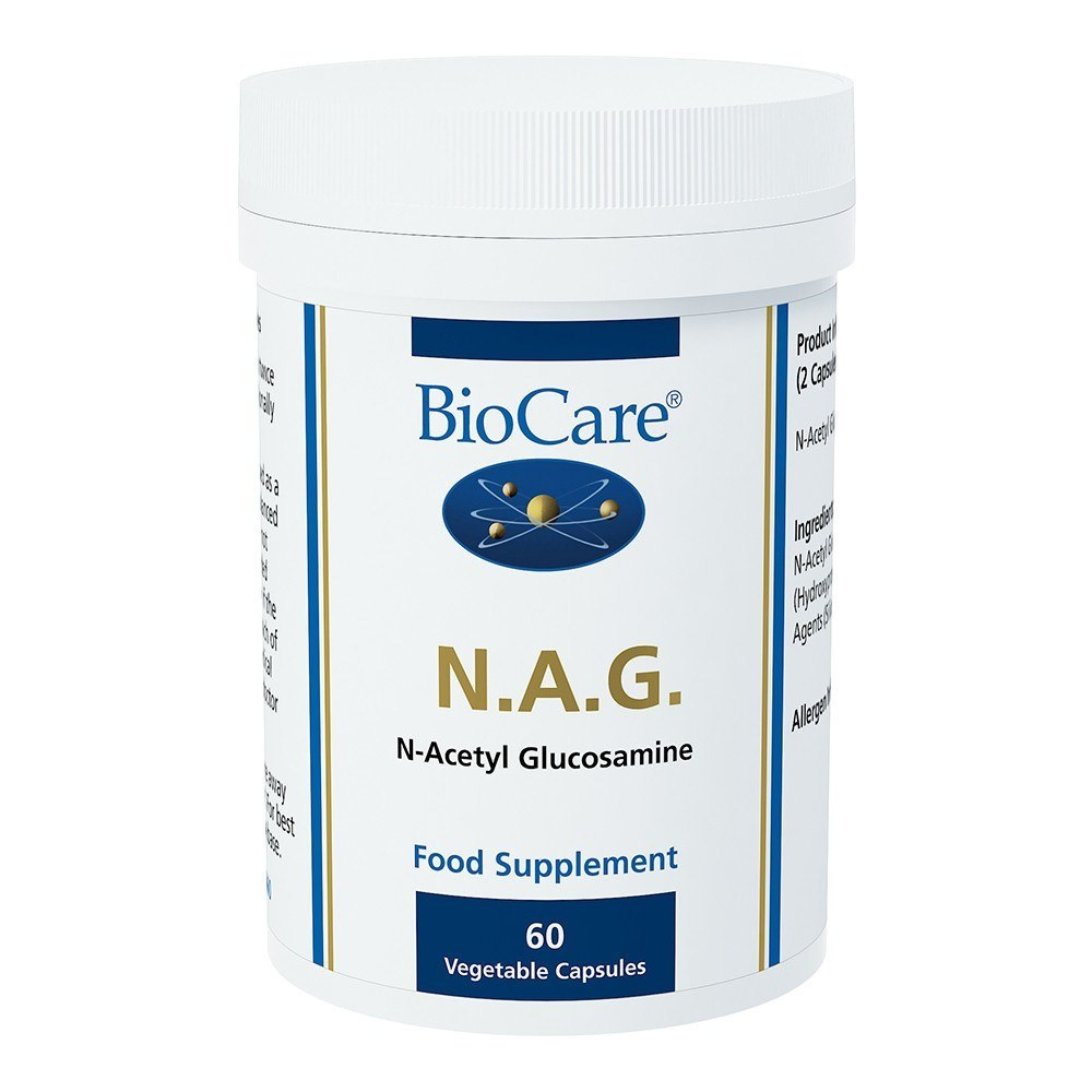 BioCare NAG N-Acetyl Glucosamine 1000 mg 60 Capsules - Lifestyle Labs